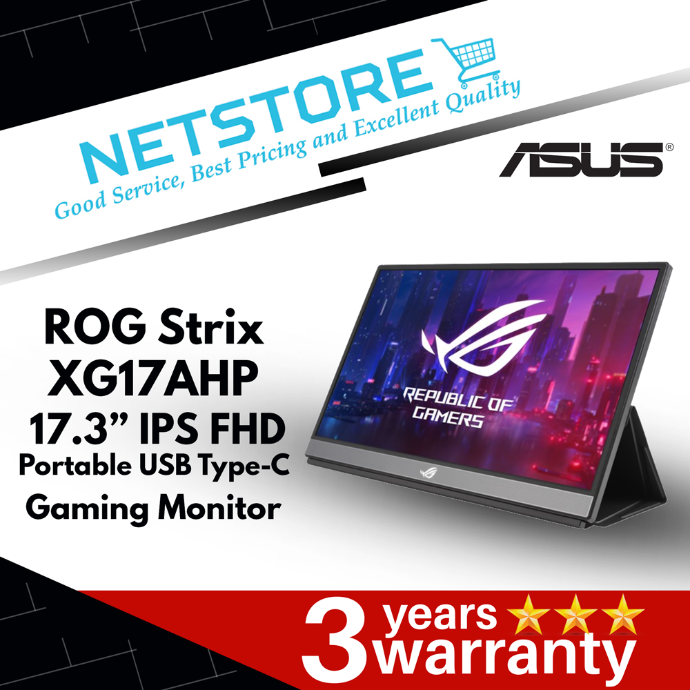 ASUS ROG Strix XG17AHP Portable USB Type-C IPS FHD Gaming Monitor