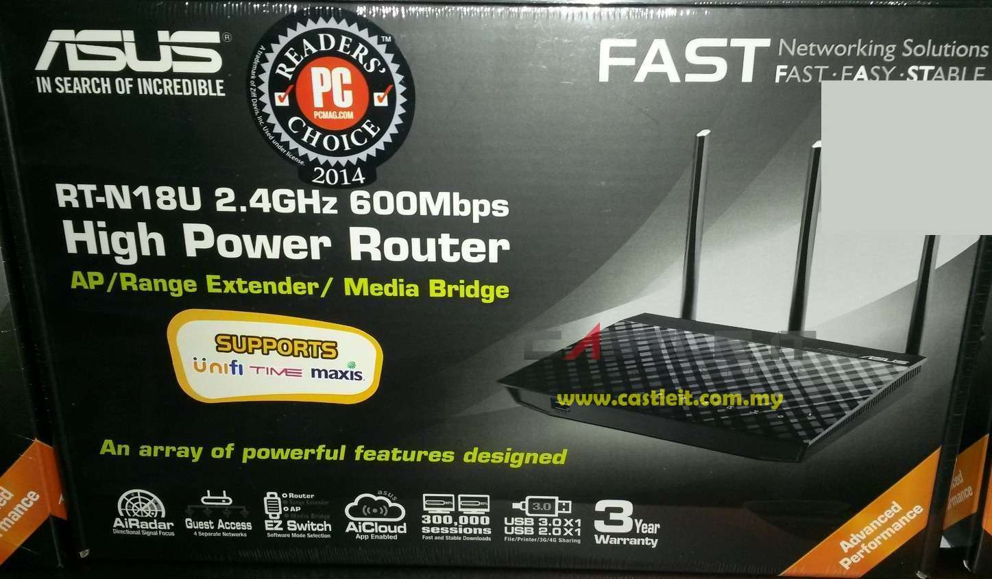 ASUS Router Gigabit WiFi N600MBPS (RT-N18U)