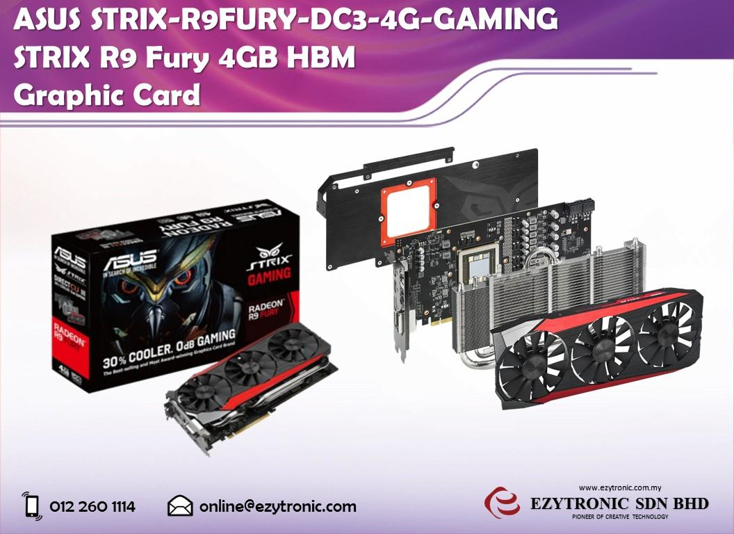 Asus STRIX-R9FURY-DC3-4G-GAMING STRIX R9 Fury 4GB HBM Graphic Card