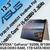 ASUS TP301U-JDW053T VIVOBOOK FLIP 13 3' LAPTOP/ NOTEBOOK