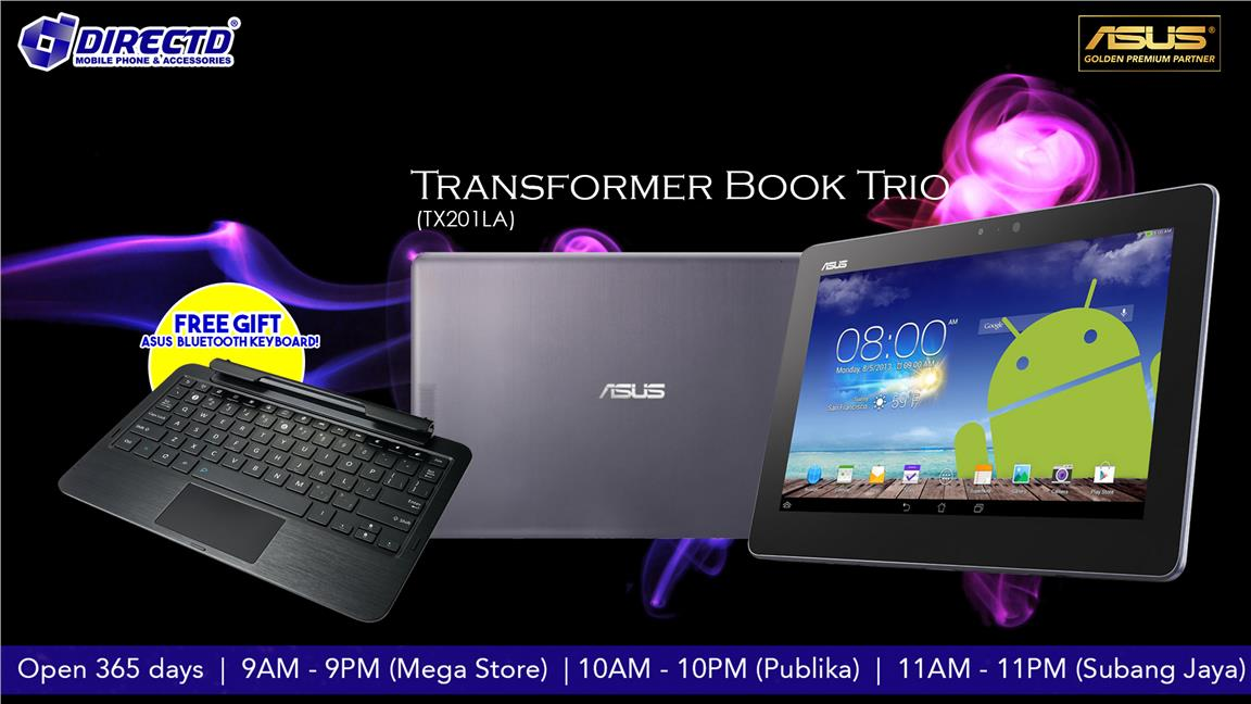 ASUS Transformer Book Trio + FREE ORIGINAL ASUS BLUETOOTH KEYBOARD!