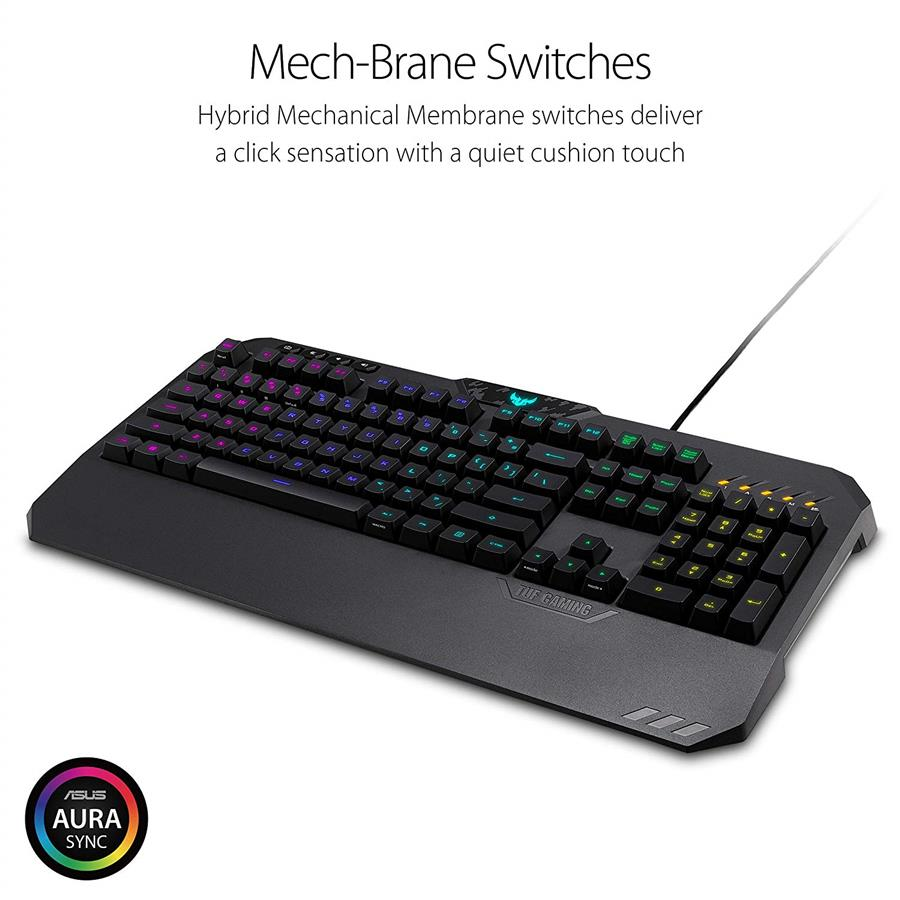 5bcebb57f30 ASUS TUF Gaming K5 RA02 Mechanical Membrane RGB Gaming Keyboard