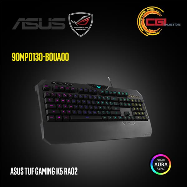 ff400fe6a82 Asus TUF Gaming K5 RA02 RGB Gaming Keyboard (90MP0130-B0UA00)