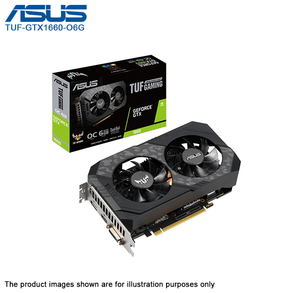 ASUS TUF NVIDIA GeForce GTX 1660 Gaming Graphic Card - TUF-GTX1660-O6G