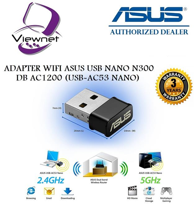 ASUS USB-AC53 NANO WIRELESS WI-FI ADAPTERS DRIVERS FOR WINDOWS 7