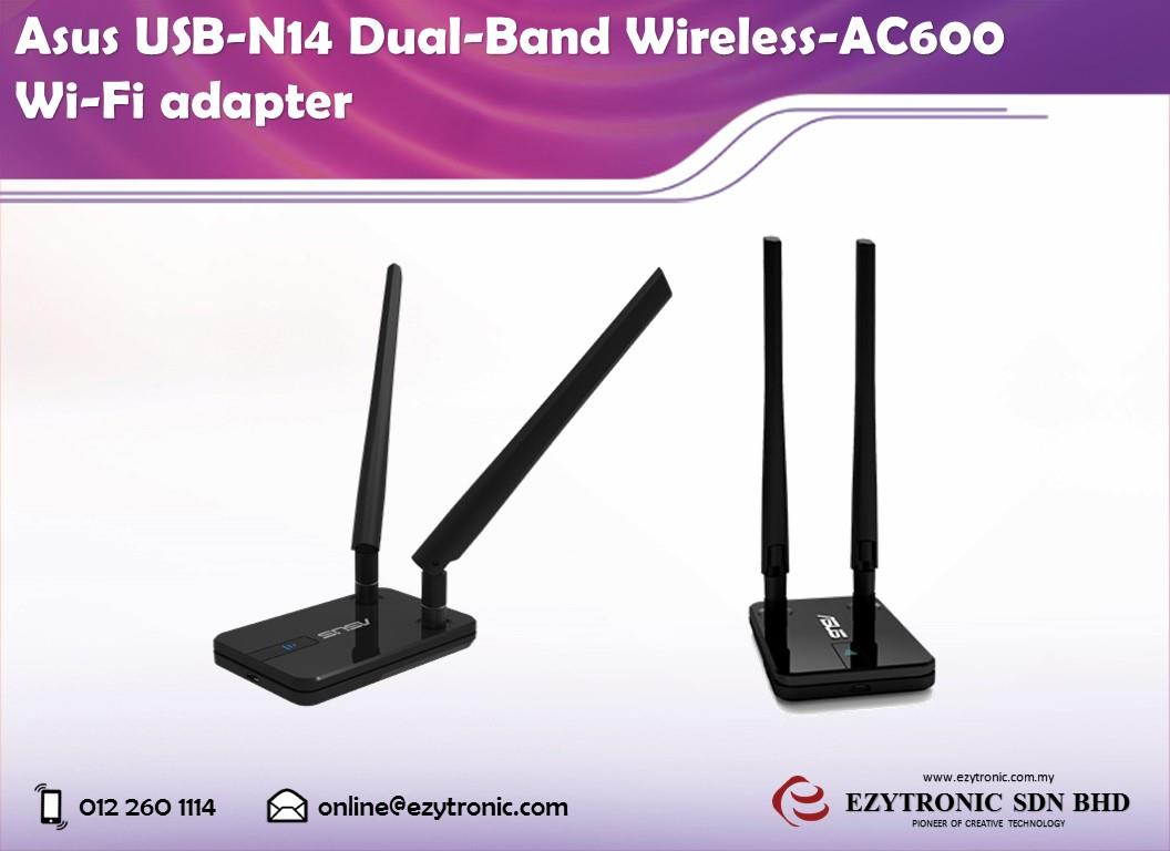 Asus USB-N14 Dual-Band Wireless-AC600 Wi-Fi adapter