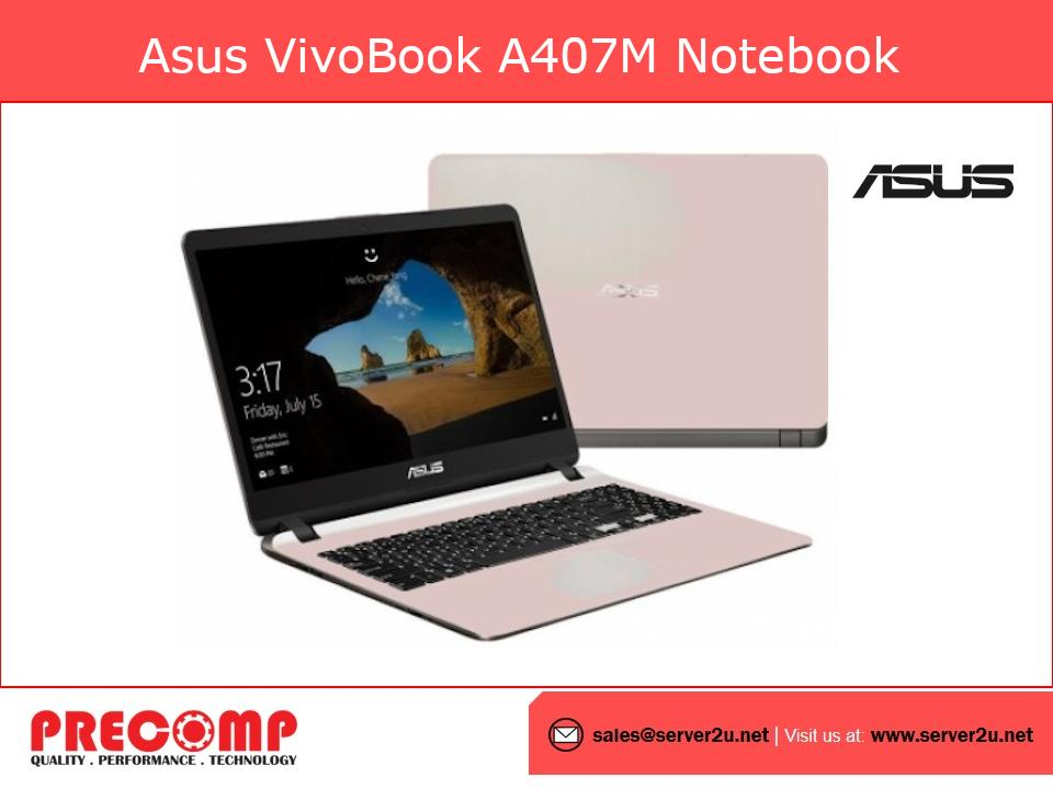 Asus Vivobook A407M Notebook (N4000.4GB.256GB) (ABV295T/ABV296T)