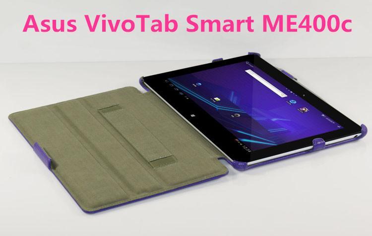 Asus VivoTab Smart ME400C ME400 KOX Hand Strap Leather Case Cover