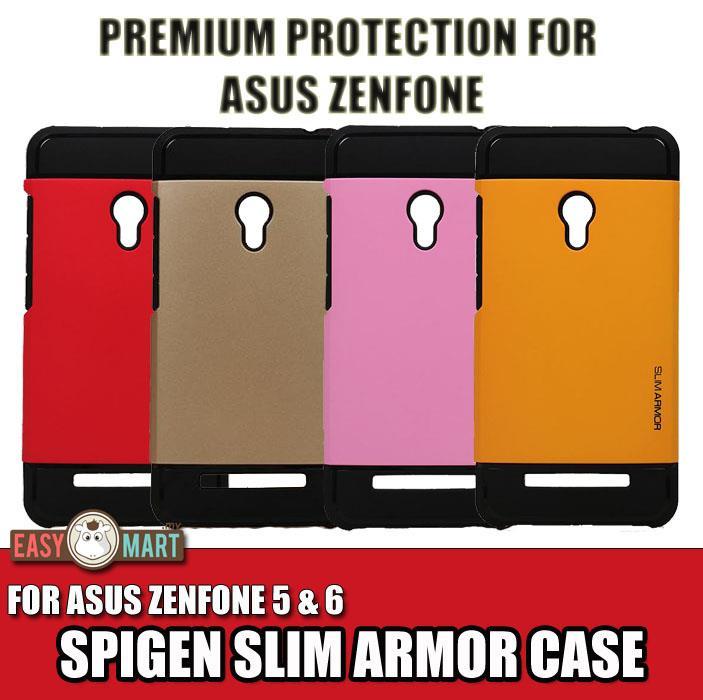 official photos 52a84 eef38 ASUS Zenfone 2 5 5 Lite 6 Spigen SGP Tough Slim Armor Back Case Cover
