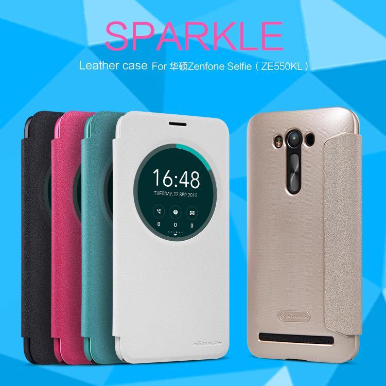 huge discount 872bc ba507 Asus Zenfone 2 Laser Selfie Zoom 5 5.5 6 Nillkin Sparkle Flip Cover