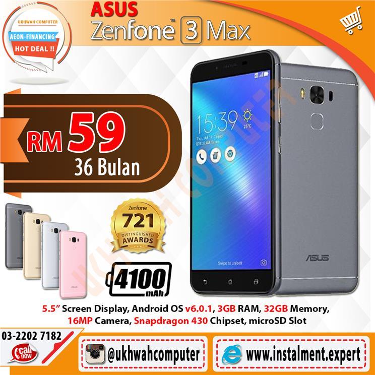 ASUS Zenfone 3 Max 55 32GB Harga Ansuran Instalment AEON 36 Bulan