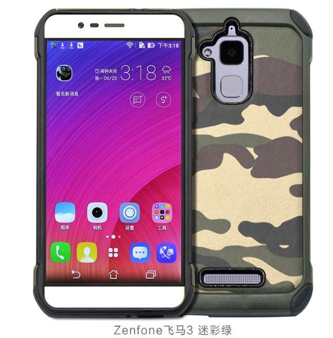 timeless design 40ef8 46503 ASUS ZENFONE 3 MAX ZC520TL ARMY Protective Tough Case
