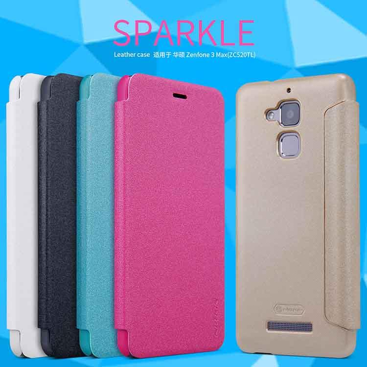 official photos 62b9b e45f7 Asus Zenfone 3 Max ZC520TL ZC553KL Nillkin Sparkle Leather Case Cover