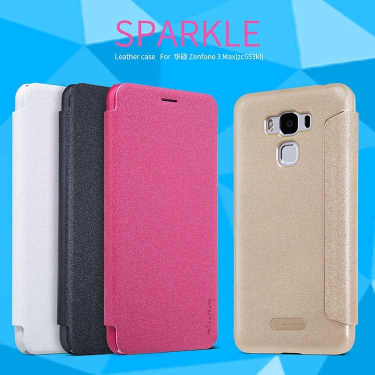 Asus Zenfone 3 Max ZC553KL Nillkin Sparkle Series Leather Flip Case
