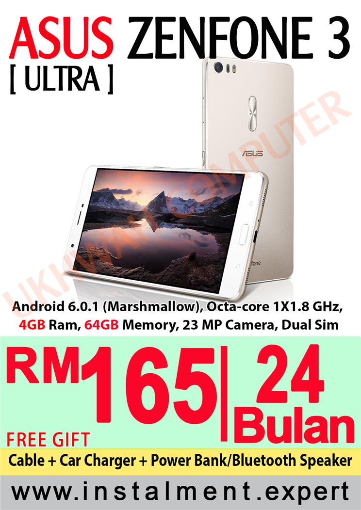 Asus Zenfone 3 Ultra 68 64GB Harga Ansuran Instalment AEON 24 Bulan