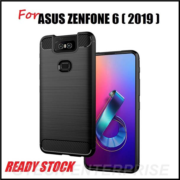 sports shoes 470ea ba500 ASUS Zenfone 6 2019 Armor Carbon Shockproof TPU Back Cover Case