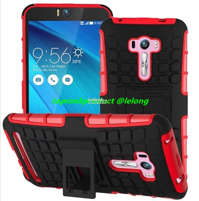 Asus ZenFone Selfie ZD551KL Tough Armor Stand Back Case Cover Casing