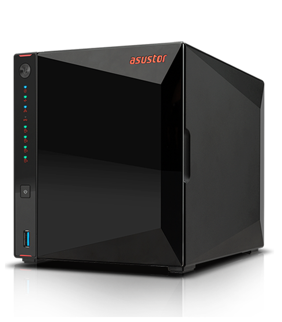 Asustor AS5304T 4 bays NAS with 2 x Seagate Ironwolf 4TB NAS HDD