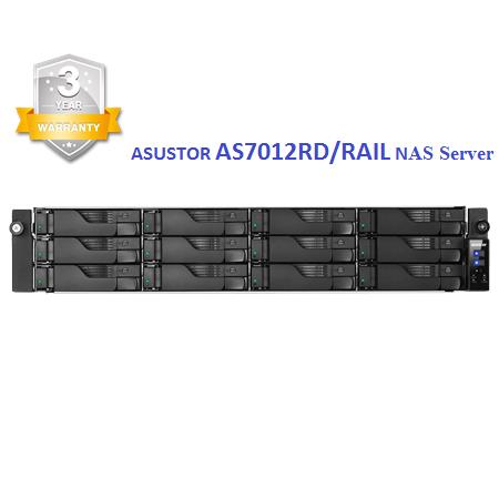 # Asustor AS7012RD/RAIL Intel Core i3 Network Attached Storage