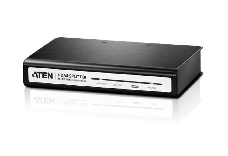 ATEN HDMI 1 IN TO 4 OUT VIDEO SPLITTER, (VS184)