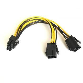 ATX 8pin Male to Dual 6-Pin Female Power Cable PCI-e GPU 18aw PC