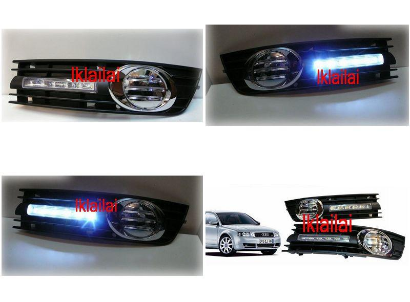 AUDI A4 '01-05 DRL Fog Lamp Chrome Cover ABS [VW Passat '06-10 also Ha