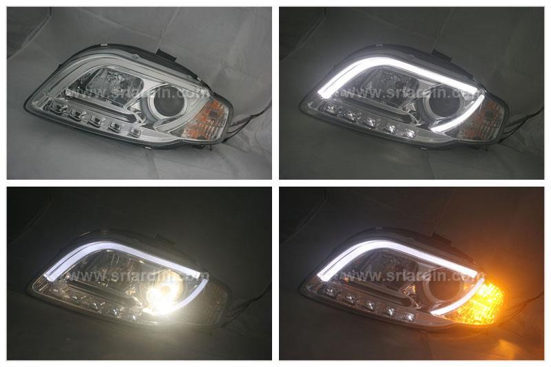 Audi A4 B7 05-08 Projector Headlamp w Bar & LED