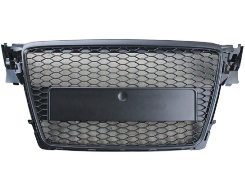 Audi A4 B8 '08 Front Grille RS Style All Black