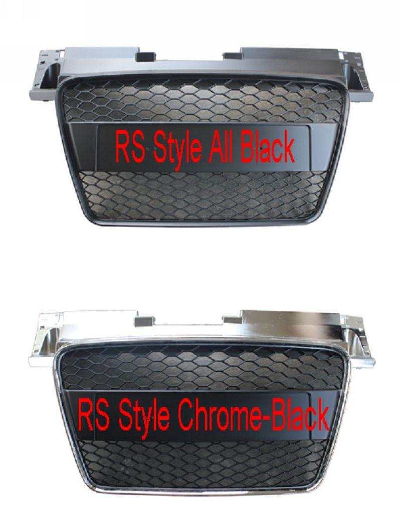 Audi TT MK2 '06-13 Front Grille RS Style All Black / Chrome-Black
