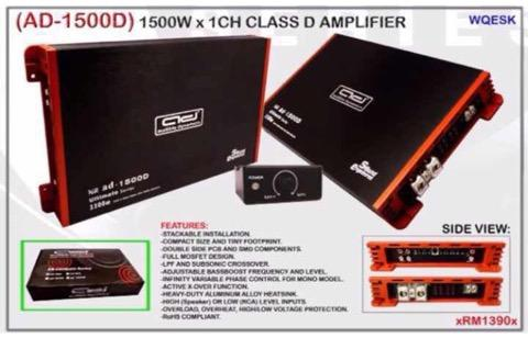 Audible Dynamic Class D mono block car amplifier ( 1500 watt rms )