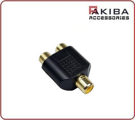 Audio Adapter RCA Female to 2x RCA Female