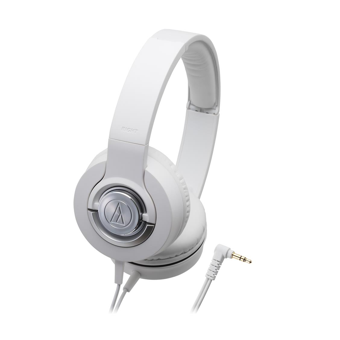Audio Technica ATH-WS33X (WH) Solid Bass Over-Ear Headphones