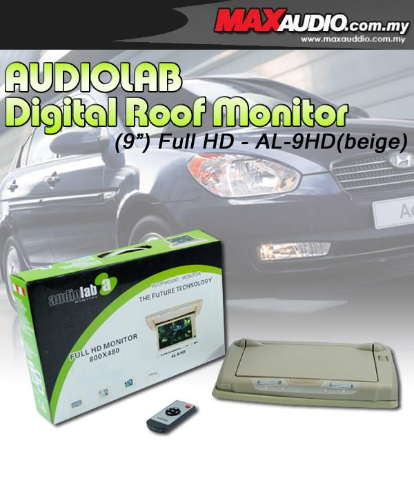 AUDIOLAB AL-9HD 9' 800 x 480 Full HD Semi Motorized Beige Roof Monitor