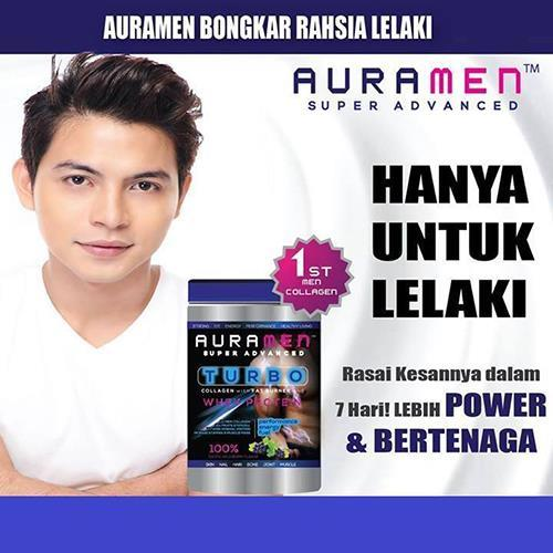 AURAMEN Turbo Super Advanced Collagen +whey protein (Free Shaker)