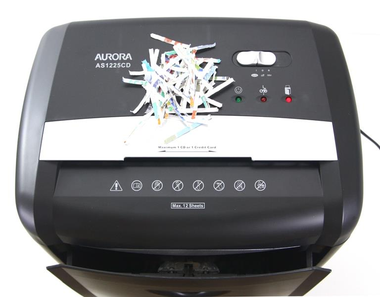 Aurora Cross Cut Paper Shredder 12 Sheets Destroys CD Security P3