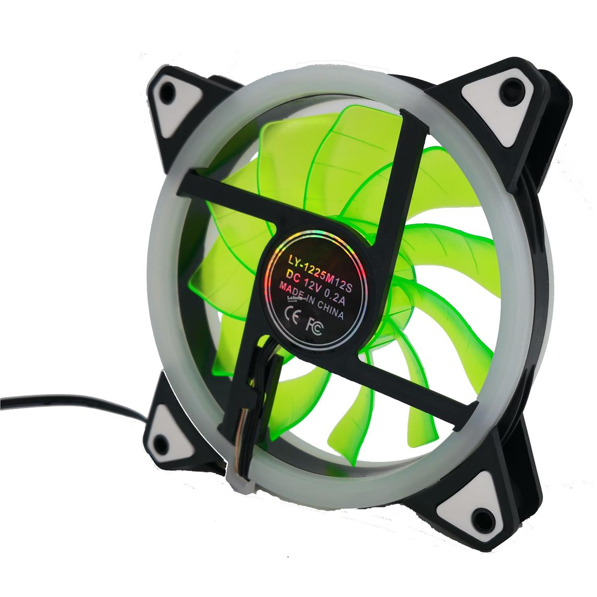Aurora Effect 120mm 12V 4pin D-Type+3pin DC Brushless Cooling Fan