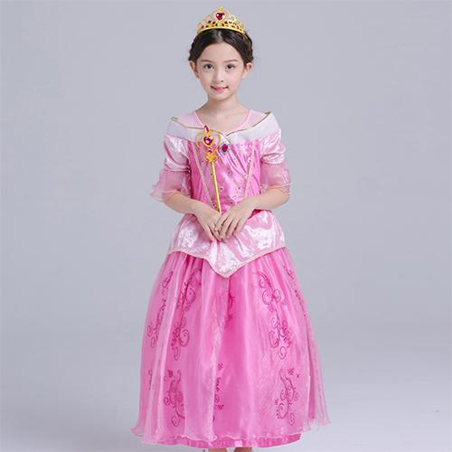 New Aurora Princess Dress Pink Costume Cosplay 4-12y
