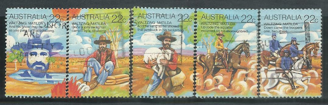 AUS-19800507U AUSTRALIA 1980 FOLKLORE ISSUE 5V USED