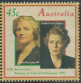 AUS-19930902 AUSTRALIA 1993 50TH ANNIVERSARY WOMEN IN FEDERAL