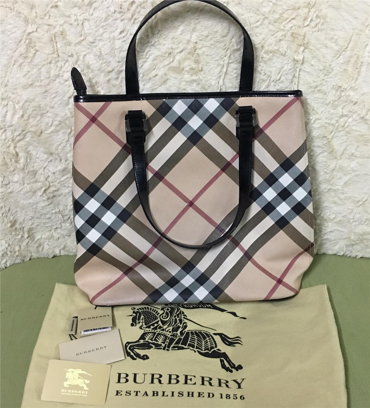 Authentic Burberry Nova Check Tote (end 10 15 2017 3 15 PM) 1e4482c921c2b