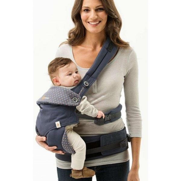 371dc308ad1 New Authentic Ergobaby Carrier 4 Position 360 Dusty Blue FOC Land S H