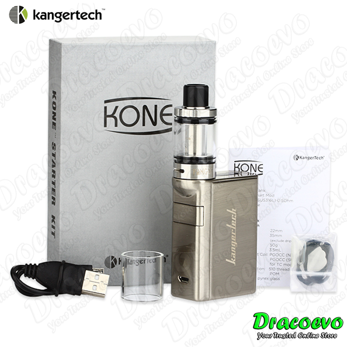 Authentic Kangertech KONE Starter Kit Vape 3000 mAH (Silver)