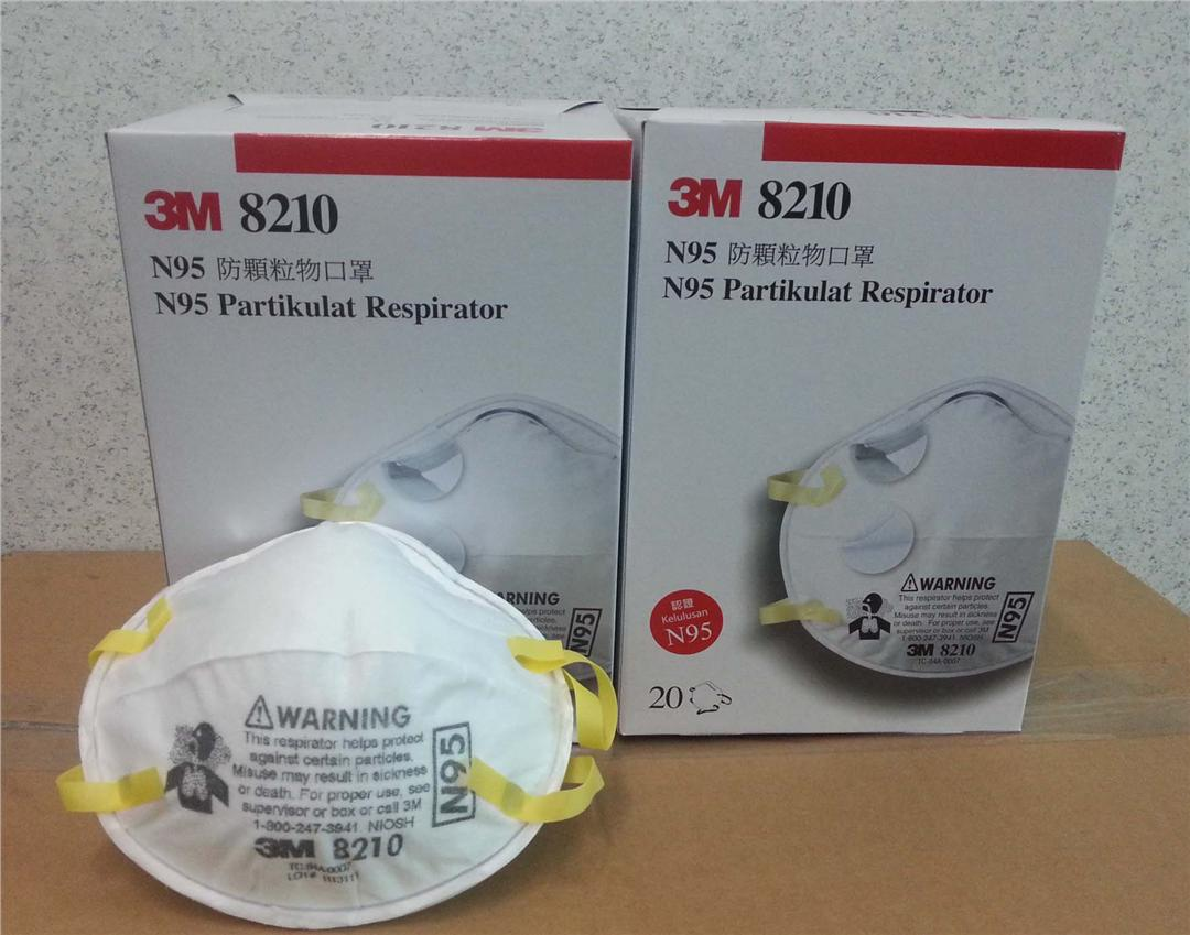 Respirator 8210 3m Face Haze Disposable Authentic Mask Anti N95