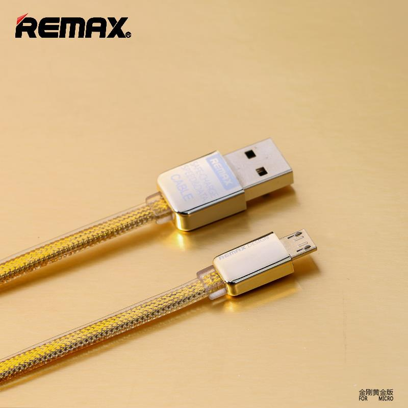 Authentic REMAX 006 Gold Edition Micro USB Data Cable Samsung Note 4 5