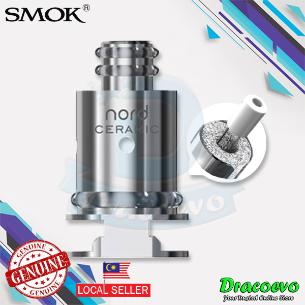 Authentic SMOK Nord Pod Replacement OCC Mesh Coil 0 6 Ohm (5pcs)