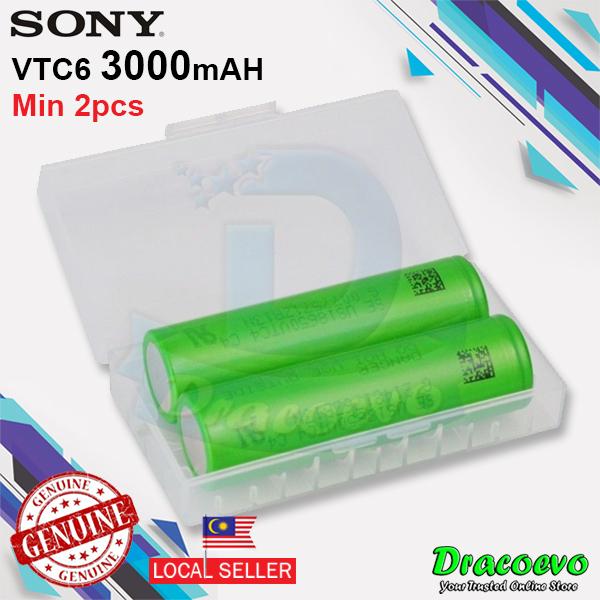 Authentic Sony 18650 VTC6 Battery 3000mah 30A Top Flat Vape E-Cig