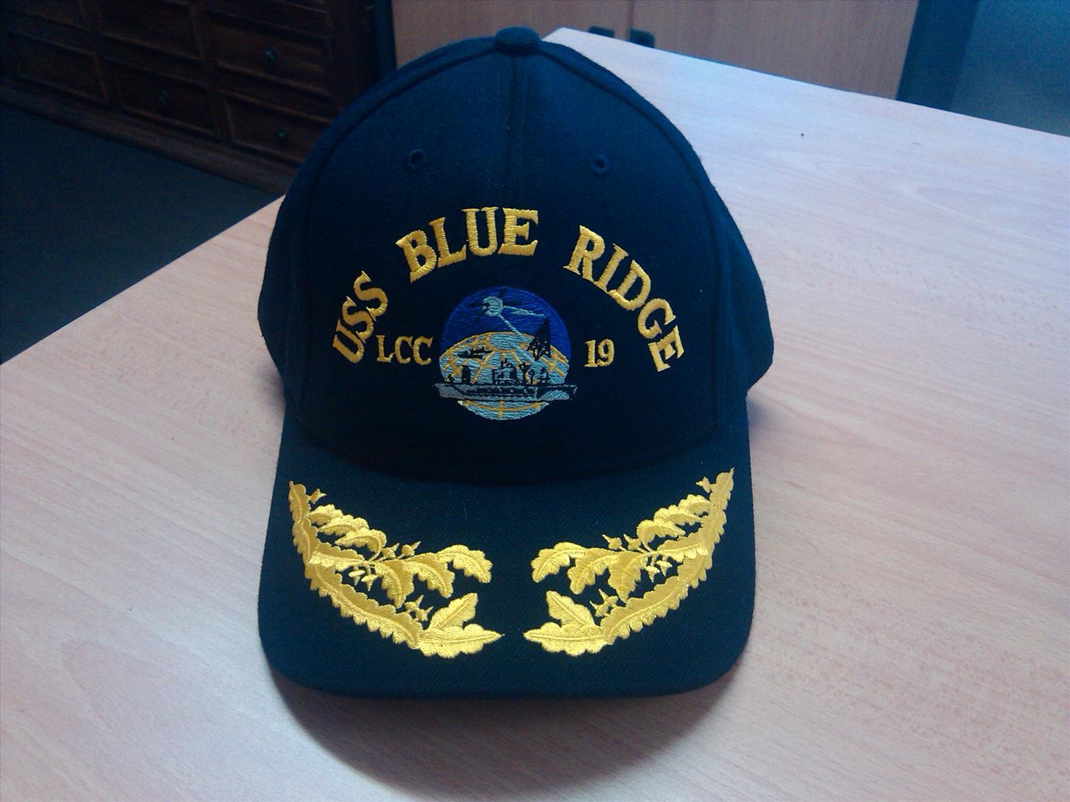 AUTHENTIC 'USS BLUE RIDGE' US NAVY ADMIRAL CAP