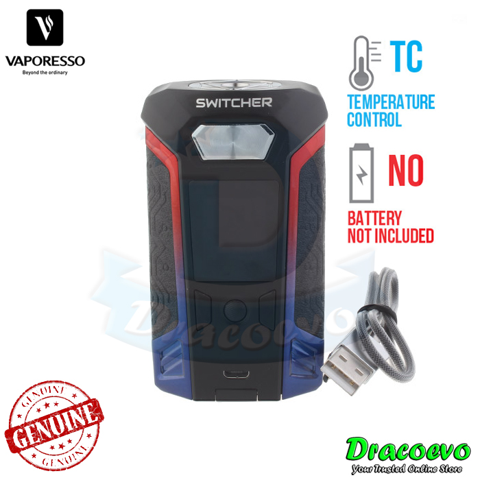 Authentic Vaporesso Switcher 220W TC Box MOD (Red Blue LE Version)
