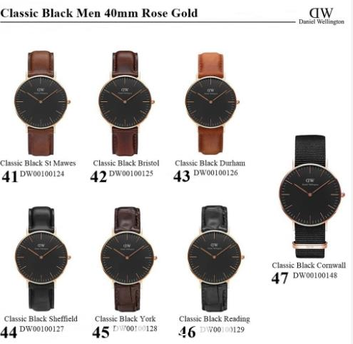 [Authenticity Guaranteed] Daniel Wellington Classic Black 36mm 40mm