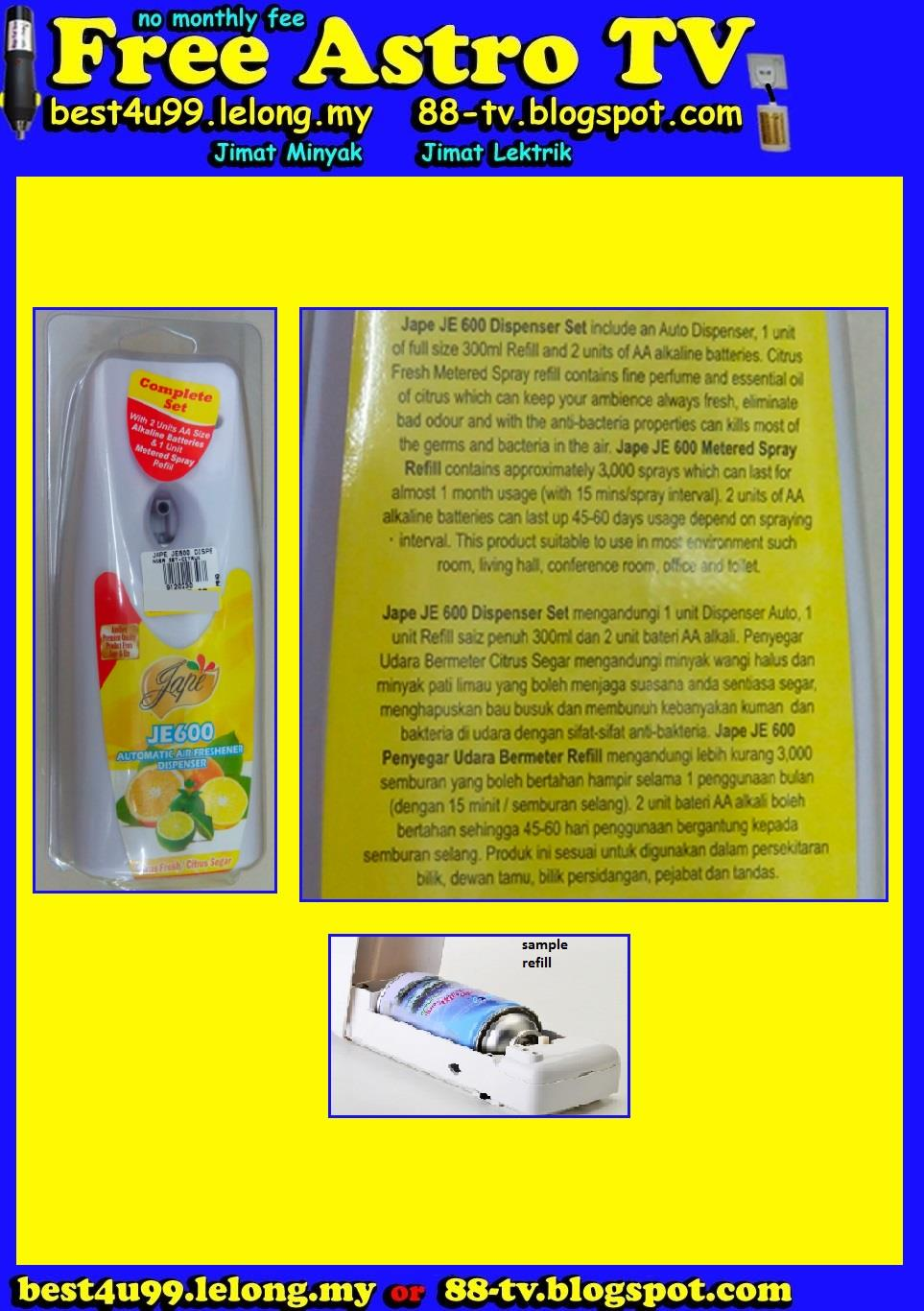 Auto Air Freshener Dispenser Penyegar udara Automatik Fresh Air Office